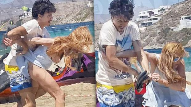 Lindsay Lohan Fiance Fight Beach Abusive Engaged
