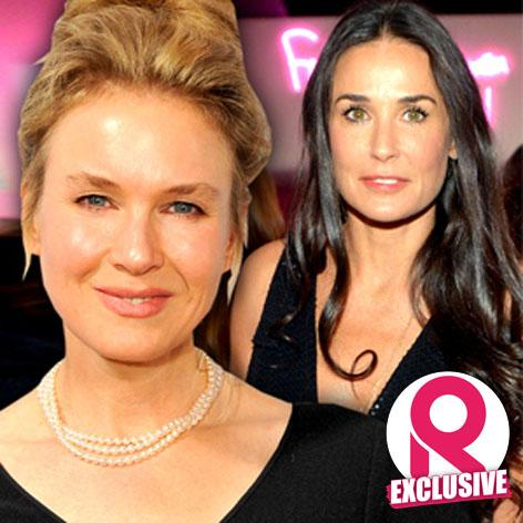 //renee zellweger is getting mentored and made over by friend demi moore square