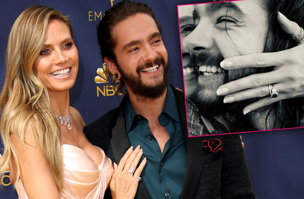 Heidi Klum Engaged Tom Kaulitz massive Engagement Ring