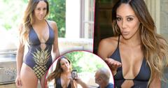Melissa gorga shows cleavage photo shoot husband
