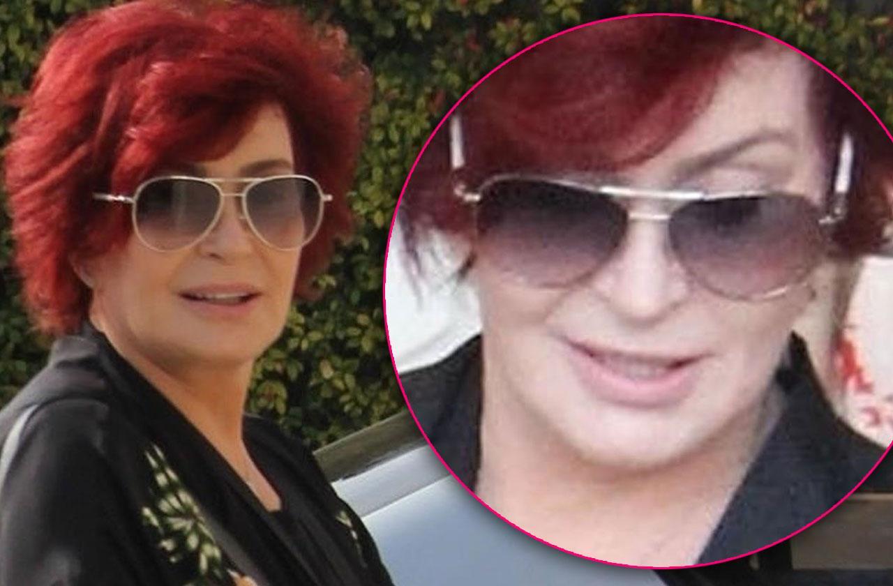 Sharon Osbourne Plastic Surgery Chin Looks Frozen
