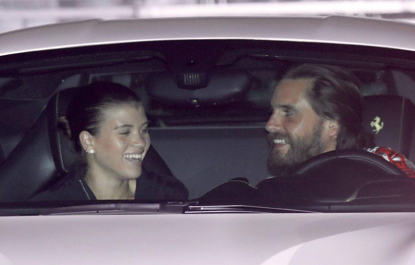 Scott Disick And Sofia Richie Leave Restaurant Date