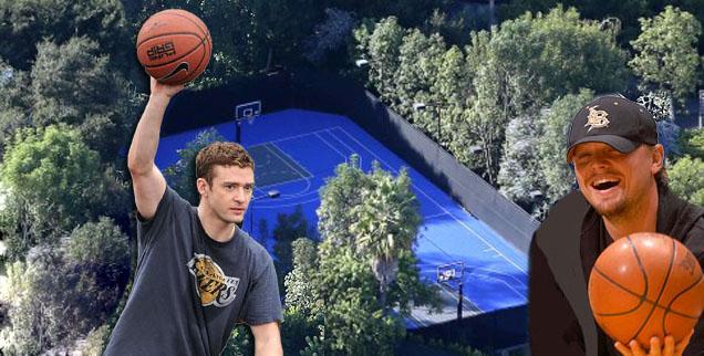 Celeb basketball courts
