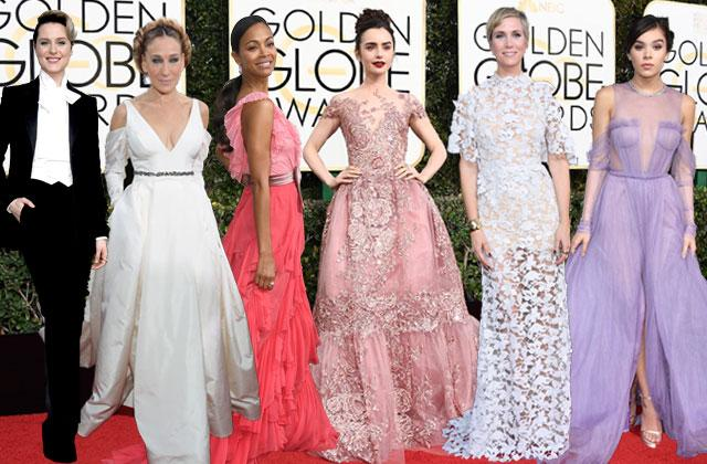 //golden globes awards red carpet best worst dressed  pics pp