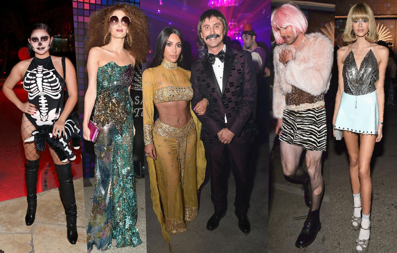 Stars Halloween Dress Up Amal Clooney 1970s Adam Levine In Drag
