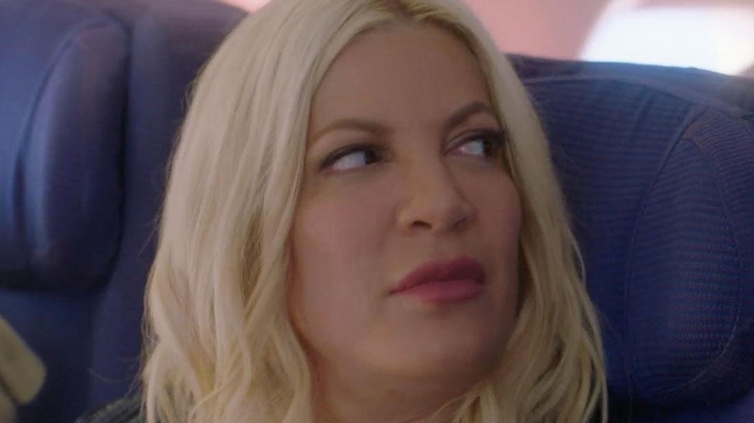 Tori Spelling Makes Fun Of Financial Problems on 'BH90210'