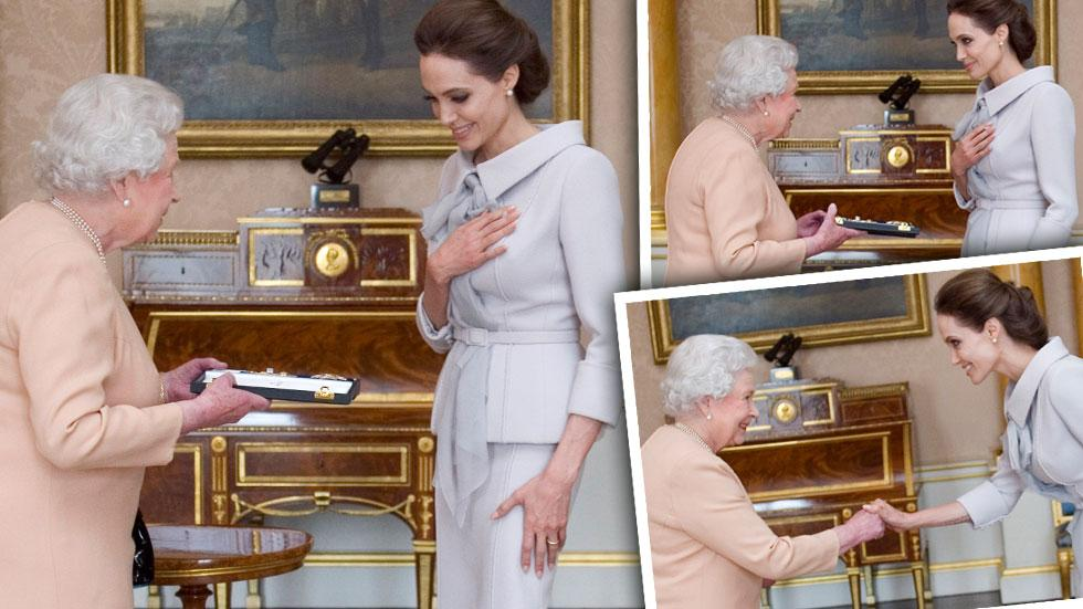 //angelina jolie meets the queen