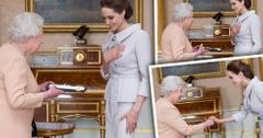 //angelina jolie meets the queen