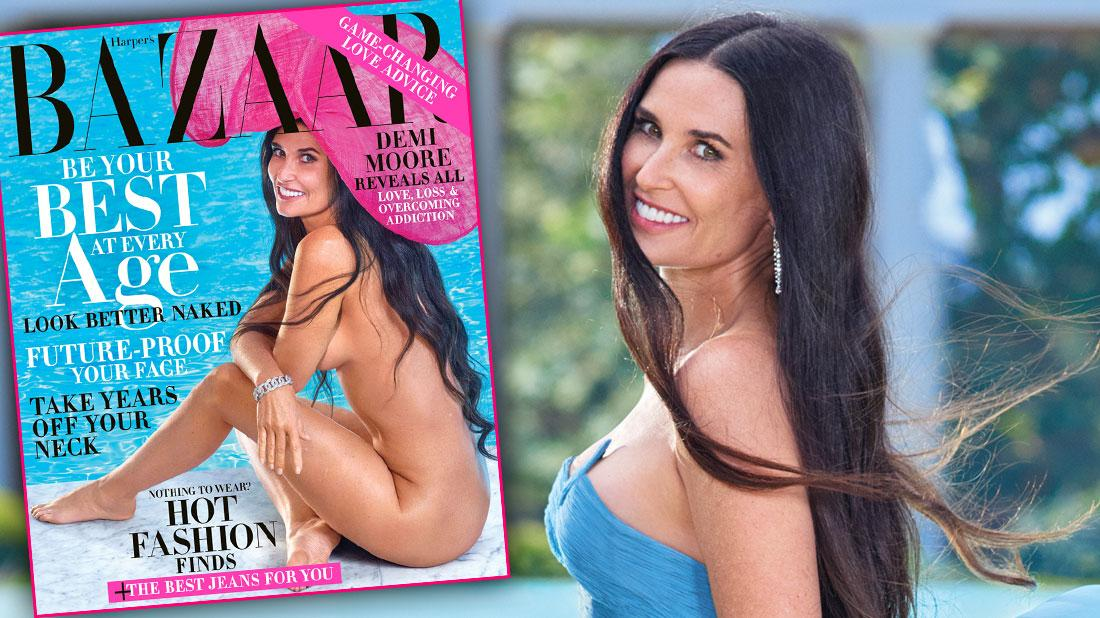 Demi Moore Poses Naked For Harper's Bazaar At 56: See The Photos