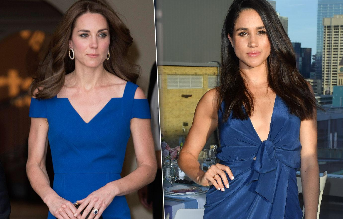Meghan Markle Stealing Spotlight Kate Middleton Photo Comparison