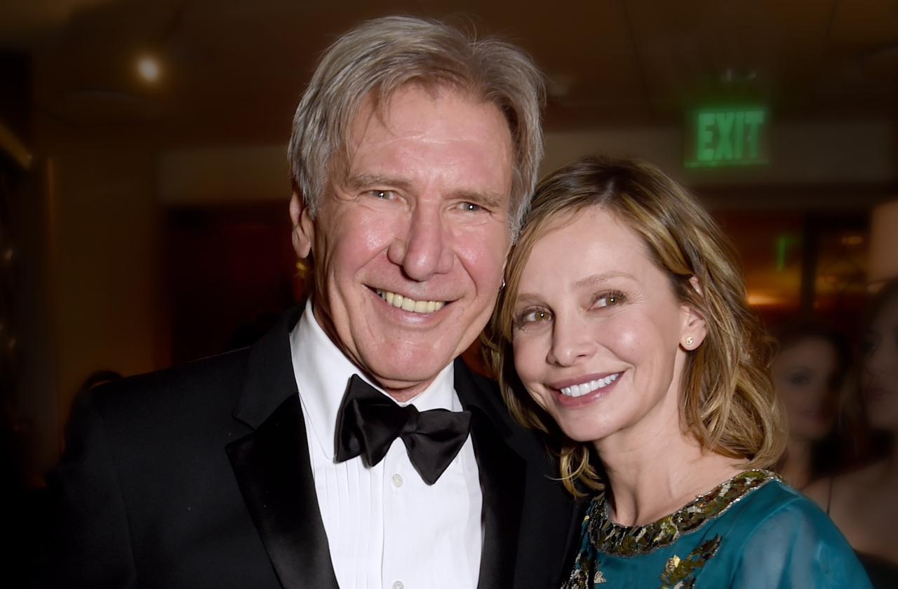 Calista Flockhart renew vows harrison ford secret wedding