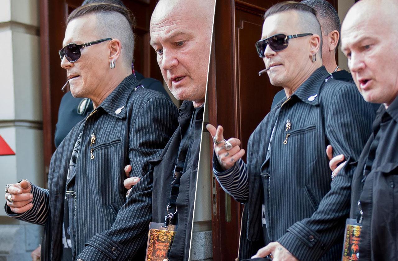 Johnny Depp Shaved Head Weight Loss