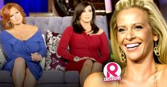 //dina manzo thrilled sister caroline jacqueline laurita are off rhonj she didnt want family drama caught on camera wide