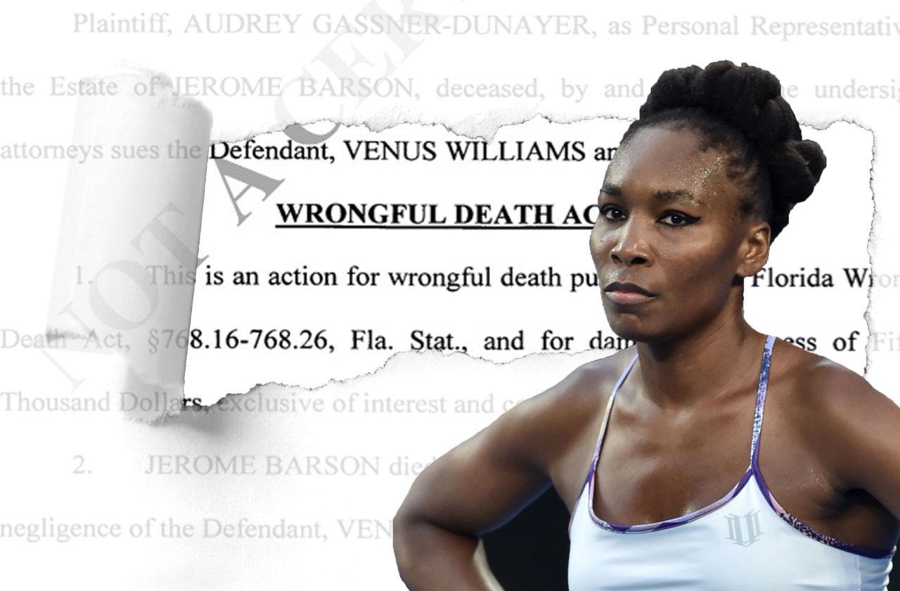 //venus williams fatal car accident wrongful death lawsuit pp
