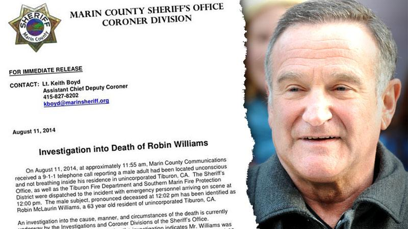//robin williams marin county sherrif coroner report pp sl