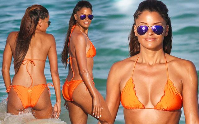 Claudia Jordan Bikini Photos New Years