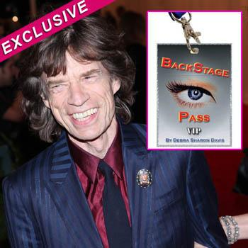 //mick jagger book prostitutes backstage