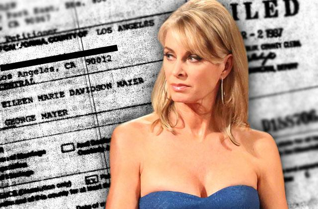Eileen Davidson Divorce Documents Shocker Ex Husband