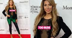 Farrah Abraham Flashes Breasts At Tribeca Film Festival