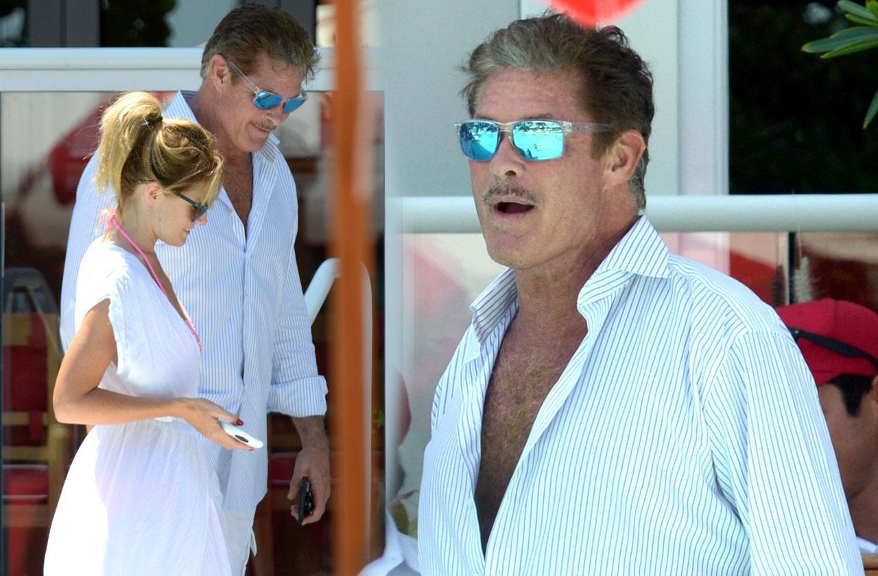 David Hasselhoff Haley Roberts Bikini Miami