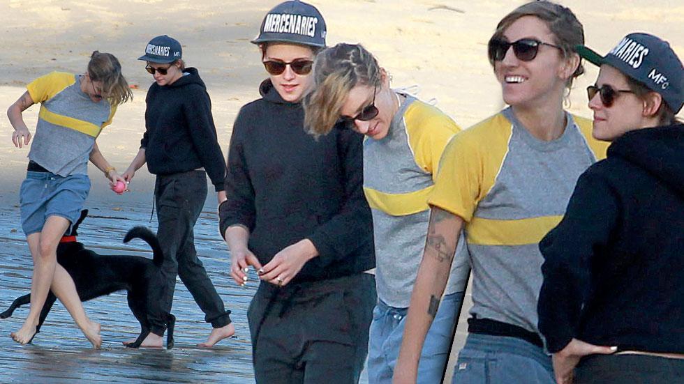 Kristen Stewart & Girlfriend Romantic Beach Day