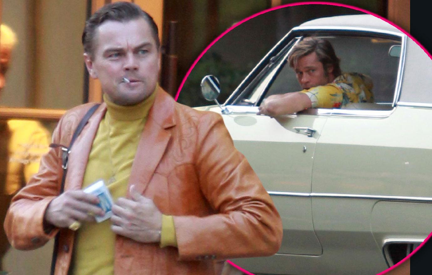 Brad Pitt Films Tarantino Movie With Leonardo DiCaprio
