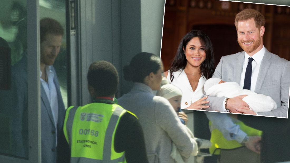 Meghan Markle, Prince Harry, Baby Archie Land In South Africa