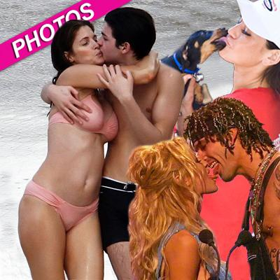 //celeb kiss wennff post