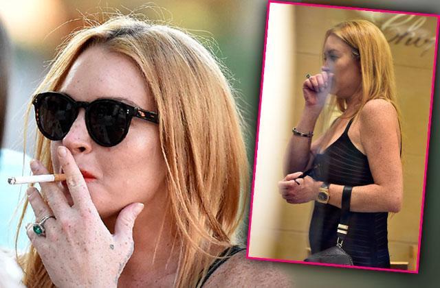 lindsay lohan pregnant smoking