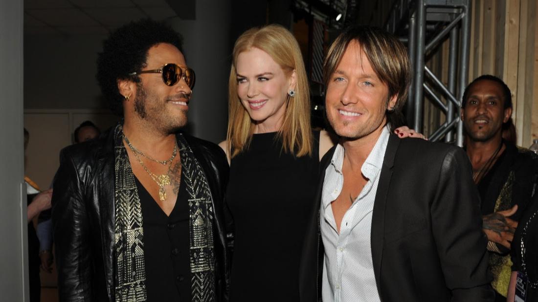 Lenny Kravitz and Nicole Kidman and Keith Urban