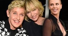 //ellen de generes and charlize theron in showdown over portia de rossi pp