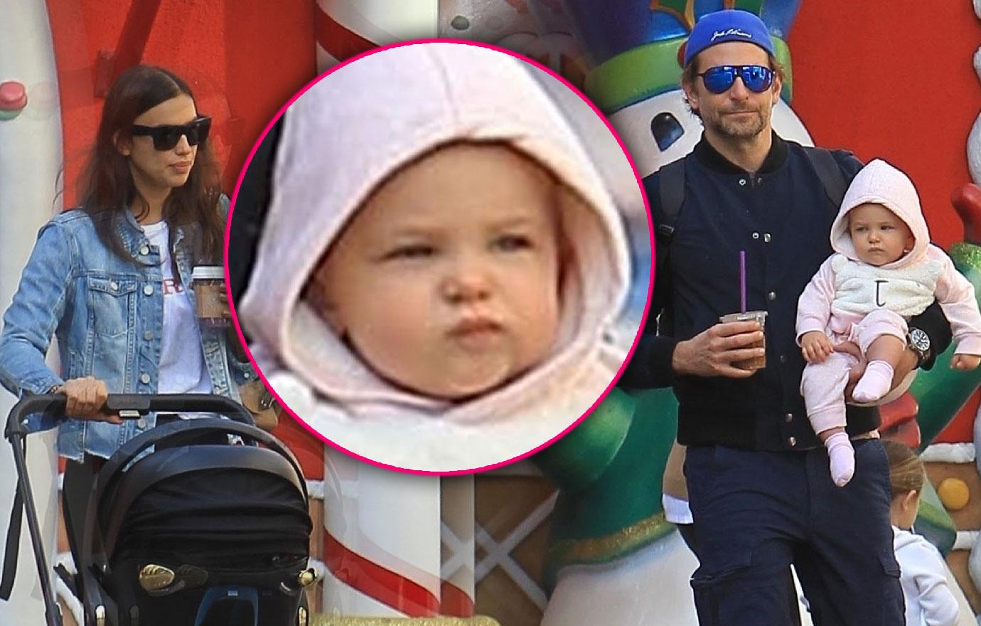 Bradley Cooper And Irina Shayk Take Daughter To Santa