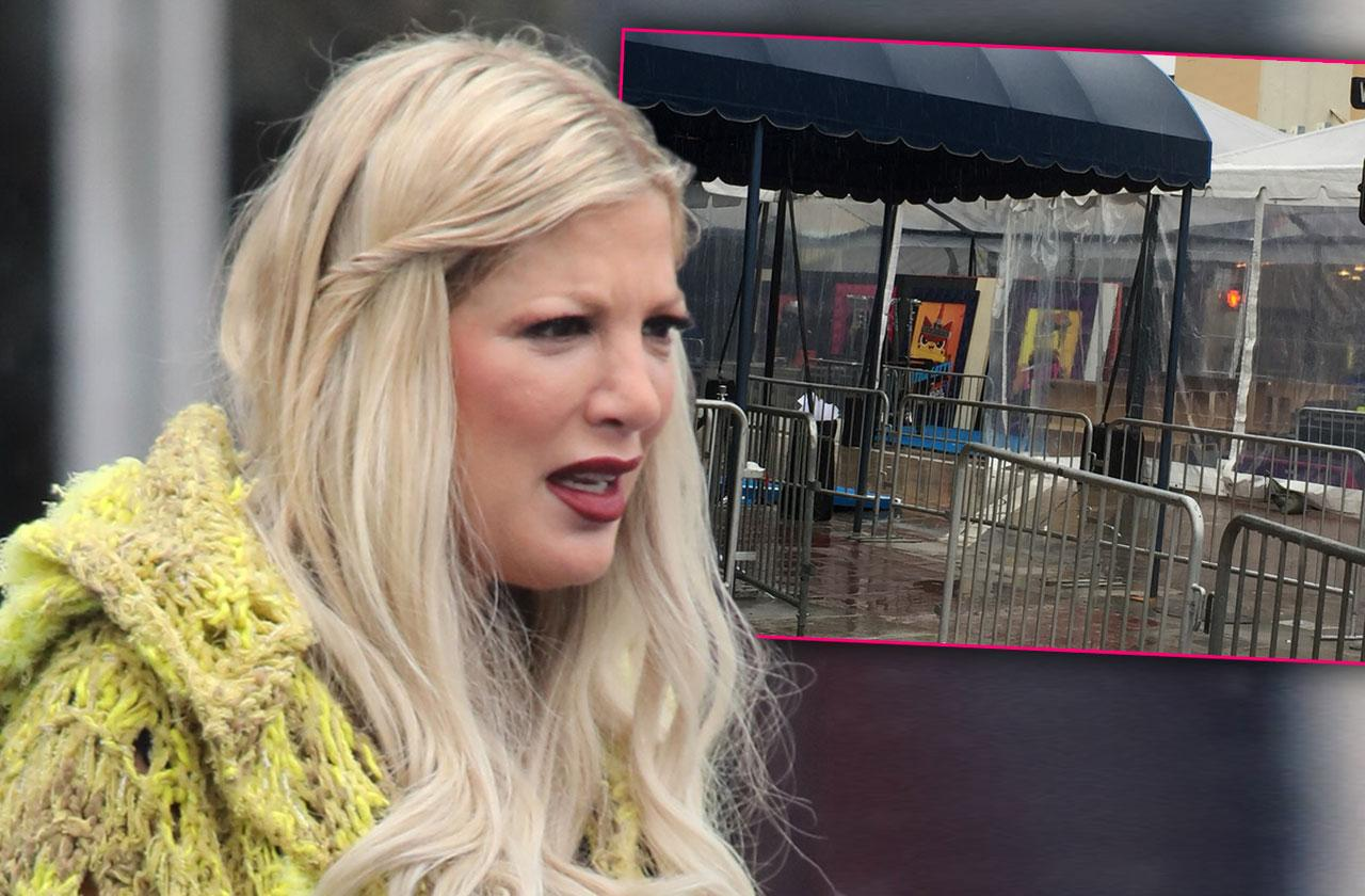 Tori Spelling Lego Movie 2 Red Carpet