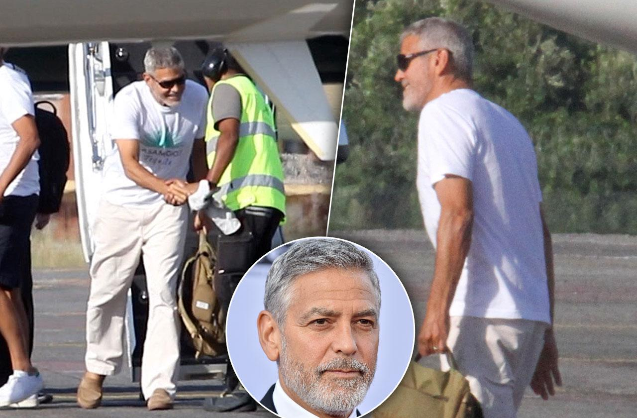 George Clooney Limping Car Accident