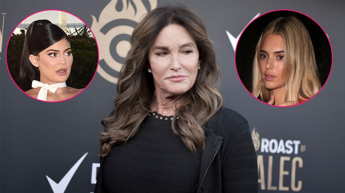 Main, Caitlyn Jenner attends the Roast of Alec Baldwin. Inset, Kendall Jenner and Kylie Jenner.