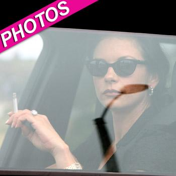 //catherine zeta jones smoke break
