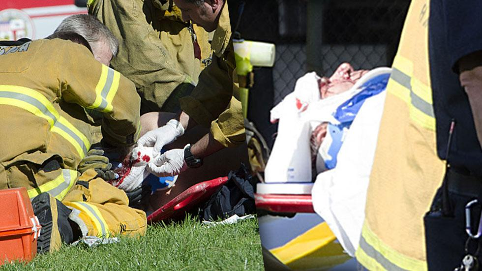Harrison Ford Carried Away From Plane Crash On Stretcher