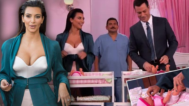 //kim kardashian on jimmy kimmel pp