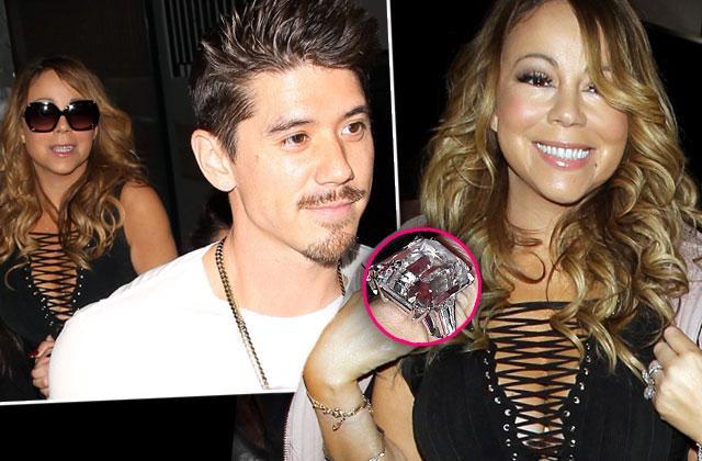 Mariah Carey James Packer Split Dancer Bryan Tanaka Dating Ring Pics