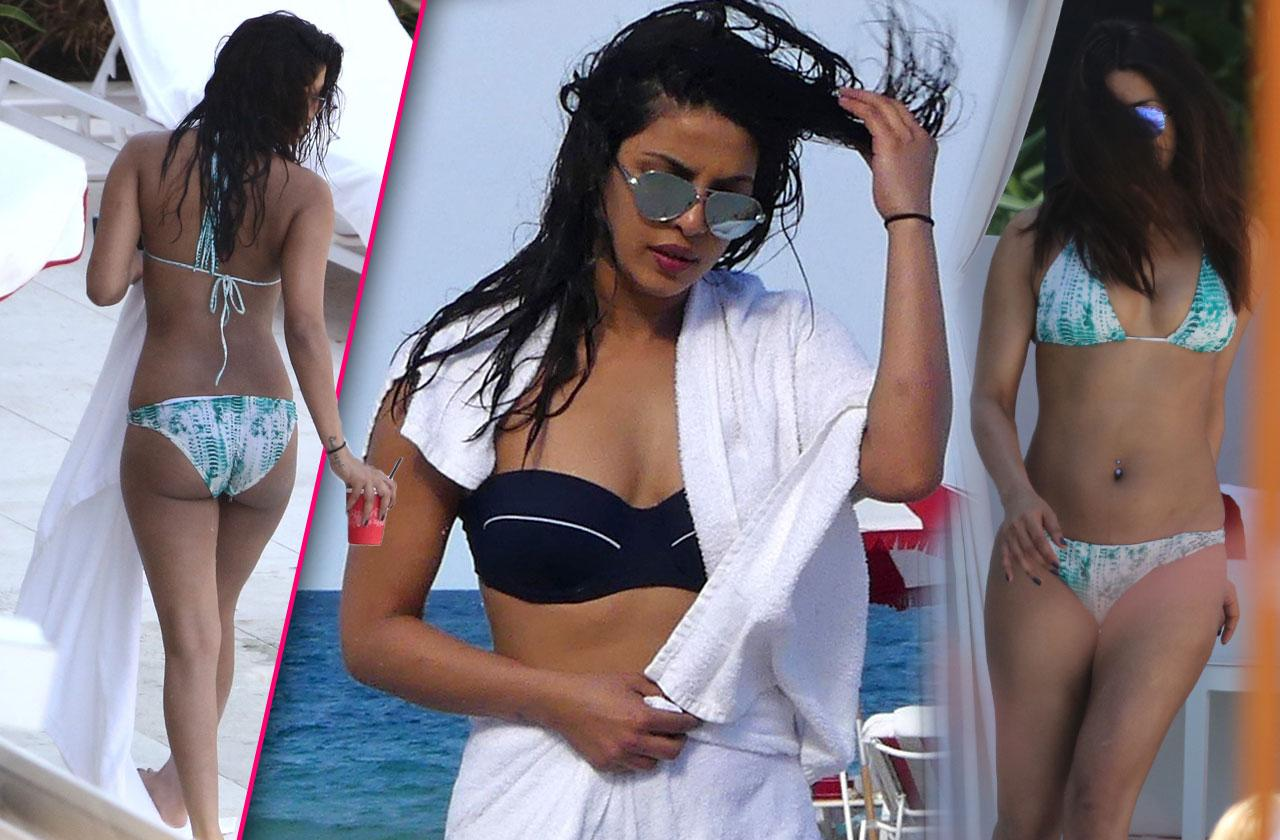 Priyanka Chopra Bikini Pool Miami