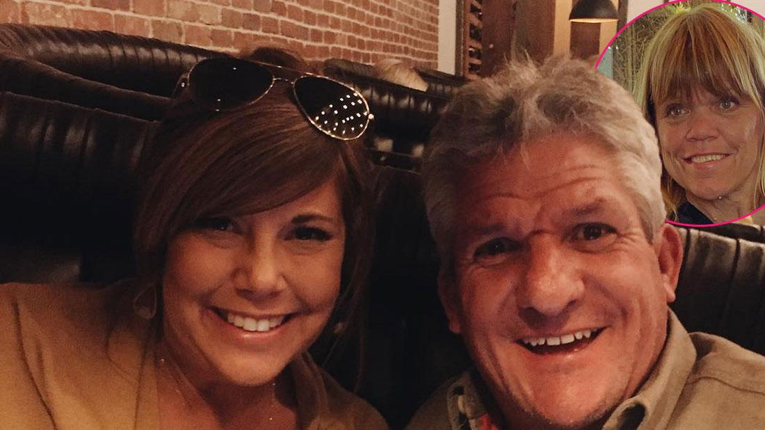Caryn Chandler and Matt roloff take a selfie. Inset upper left corner, Amy Roloff takes a selfie.