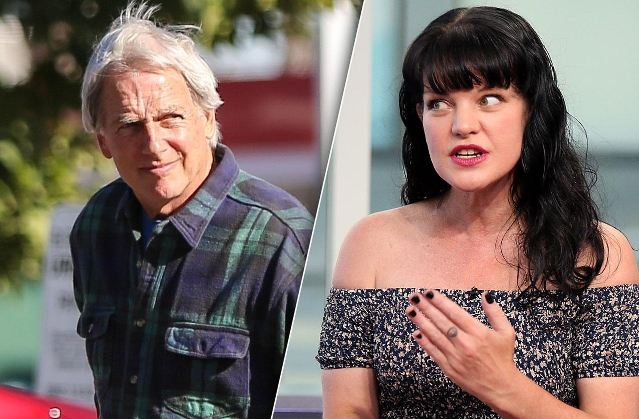 //mark harmon feud pauley perrette over dog quit ncis pp