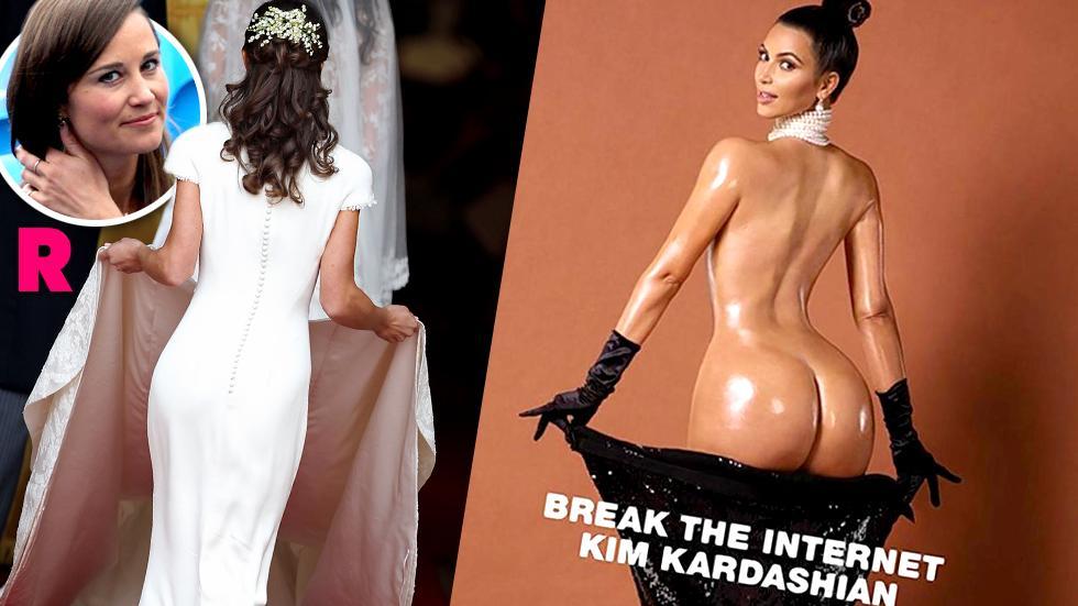 Kim Kardashian Butt Pippa Middleton Butt