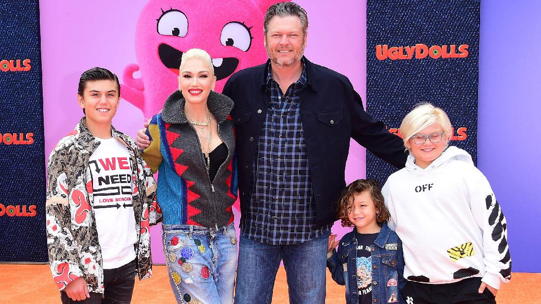 Gwen Stefani And Sons Attend Movie Premiere With Blake Shelton