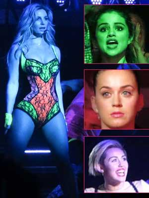 //costume changes celebs britney spears opening las vegas show tall