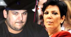 //kris jenner says rob kardashian obese failed sock line report wide