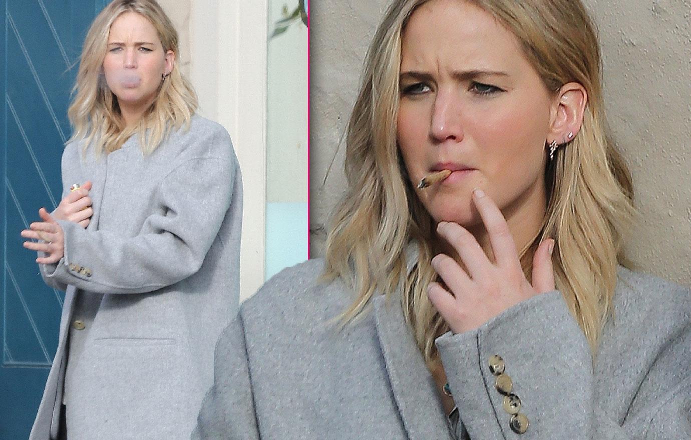 Jennifer Lawrence Smokes Something Suspicious Photos