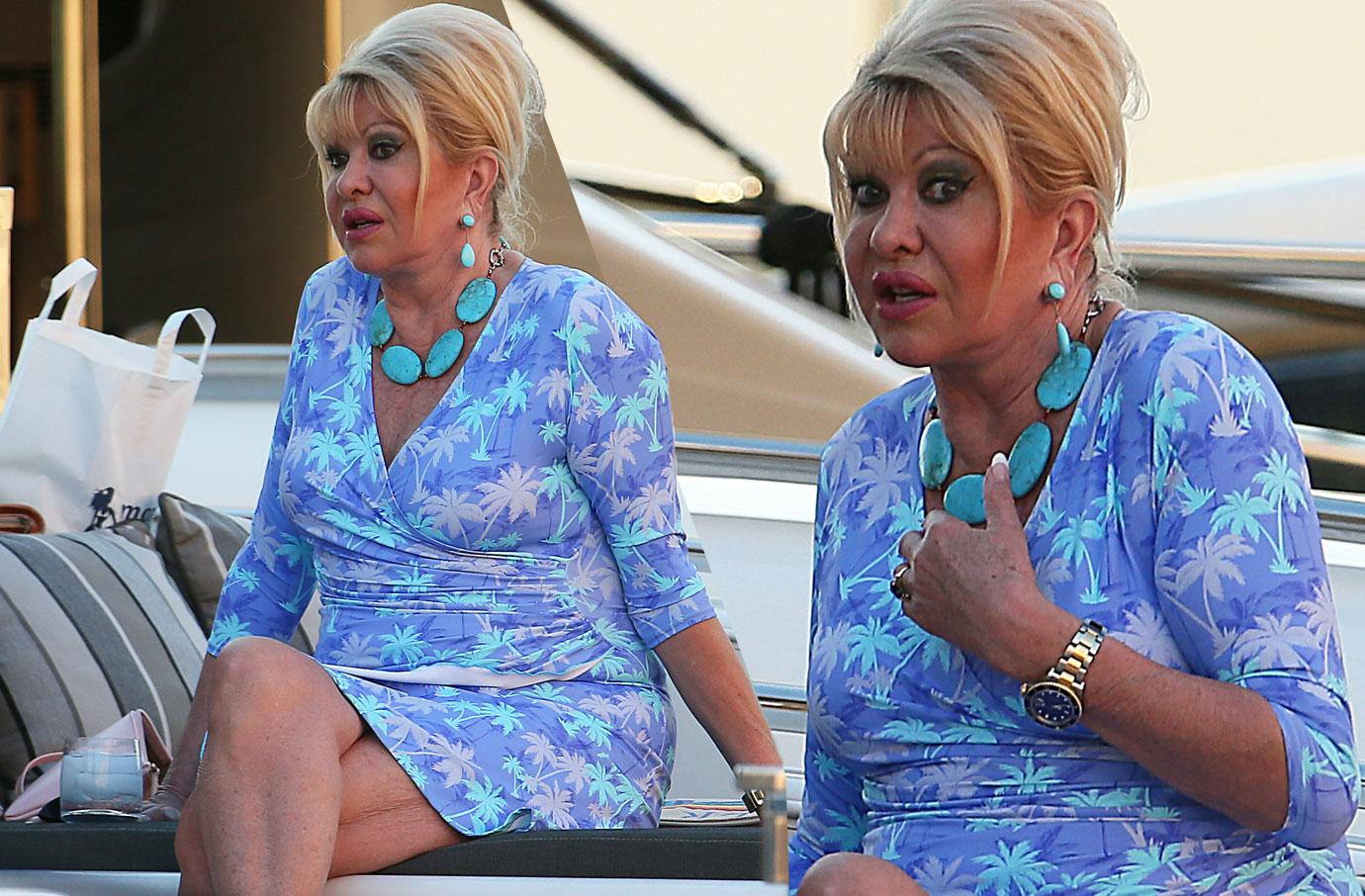 Ivana Trump On Holiday In St Tropez