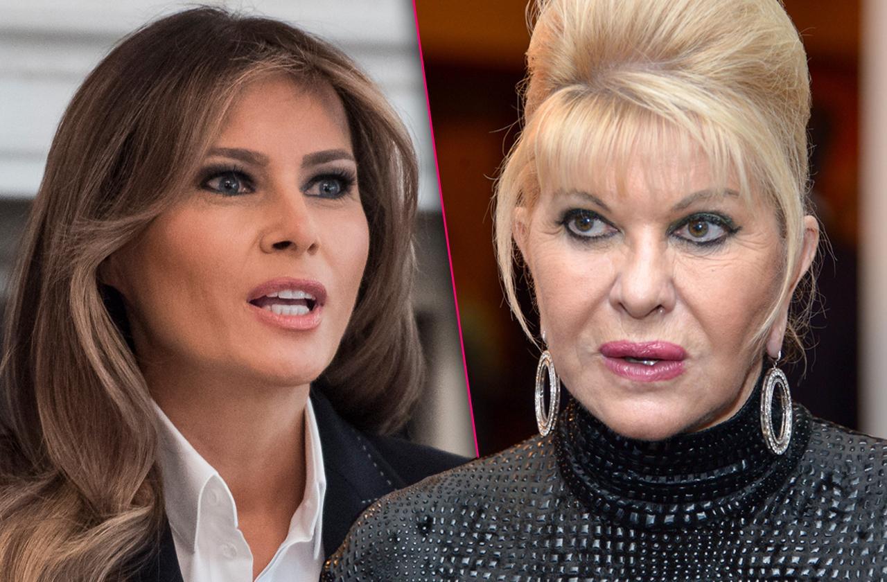 ivana trump feud melania trump first lady