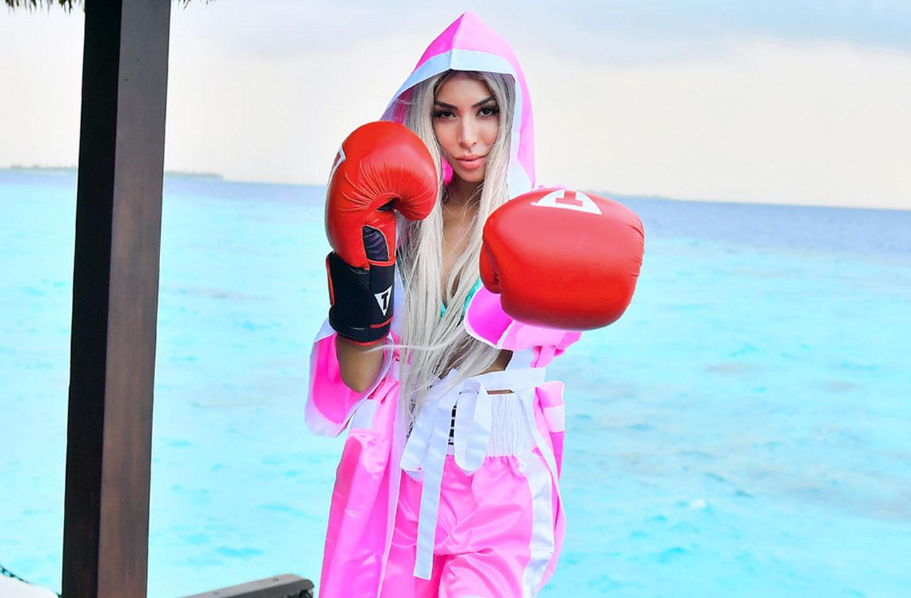Farrah Abraham Wears Boxing Outfit In The Maldives